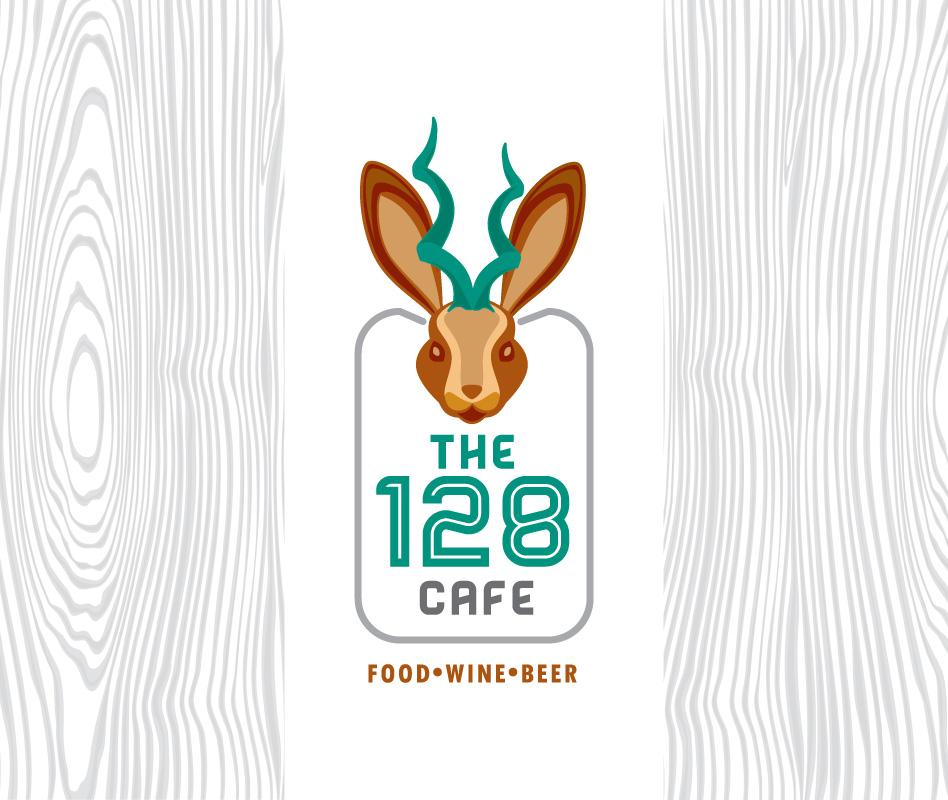The 128 Cafe logo